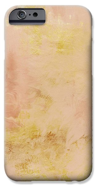 Corporate Art iPhone Cases - Peach Harvest- Abstract Art by Linda Woods. iPhone Case by Linda Woods