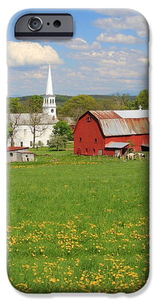 Meadow Photographs iPhone Cases - Peacham Vermont Spring Afternoon iPhone Case by John Burk