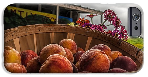 Farm Stand iPhone Cases - Peaches iPhone Case by Maria Coulson