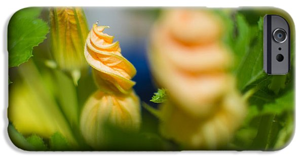Close Tapestries - Textiles iPhone Cases - Peachy Flower iPhone Case by Melissa Chesney