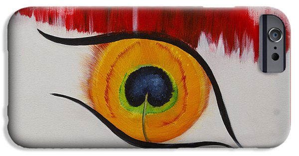Torn iPhone Cases - Peacock Eye iPhone Case by Vanessa Velez Boswell