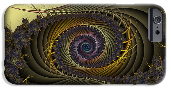 Fractal iPhone Cases - Peacock iPhone Case by Karin Kuhlmann