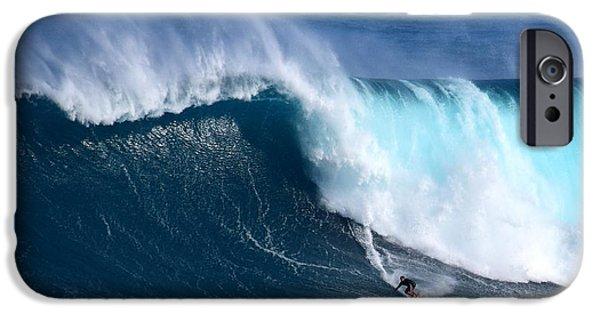 Big Wave iPhone Cases - Peahi Unleashes iPhone Case by Jackson Kowalski
