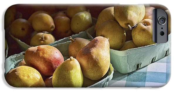 Farm Stand Photographs iPhone Cases - Pear Golden iPhone Case by Caitlyn  Grasso