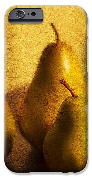 Pear Trio iPhone Case by Rebecca Cozart