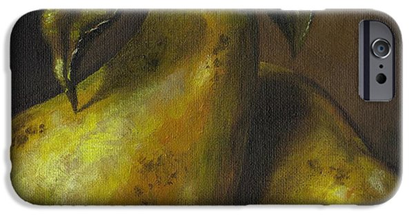 Interior Still Life iPhone Cases - Pears iPhone Case by Adam Zebediah Joseph