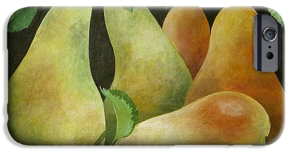 Pear iPhone Cases - Pears iPhone Case by Jennifer Abbot