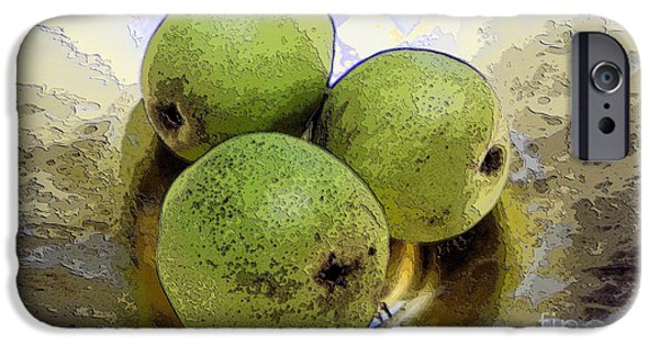 Pears Digital iPhone Cases - Pears iPhone Case by Ron Bissett