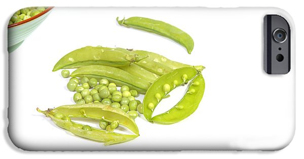 Crops iPhone Cases - Peas and pods iPhone Case by Patricia Hofmeester