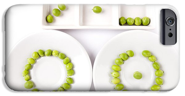 Raw iPhone Cases - Peas iPhone Case by Nailia Schwarz