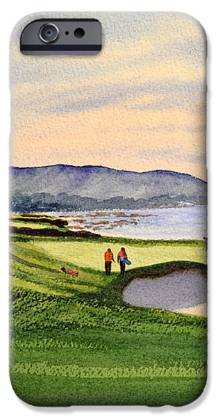 Pebble Beach Golf Course iPhone Case by Bill Holkham