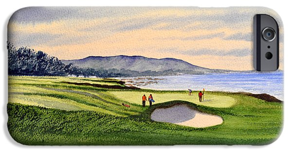 Us Open iPhone Cases - Pebble Beach Golf Course iPhone Case by Bill Holkham