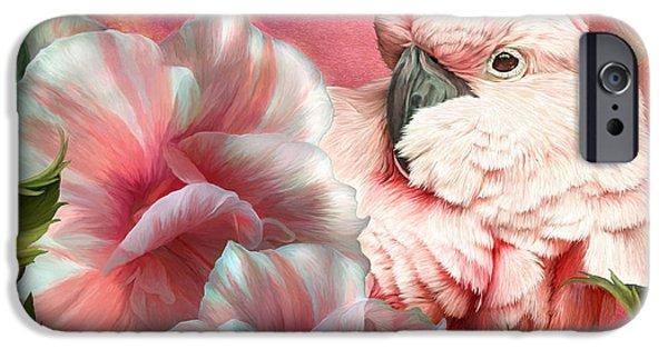 Cockatoo iPhone Cases - Peek A Boo Cockatoo iPhone Case by Carol Cavalaris