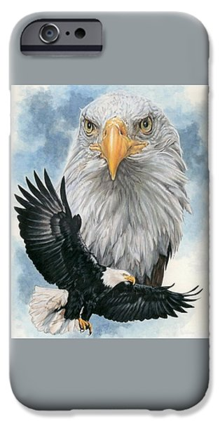 Eagle iPhone Cases - Peerless iPhone Case by Barbara Keith