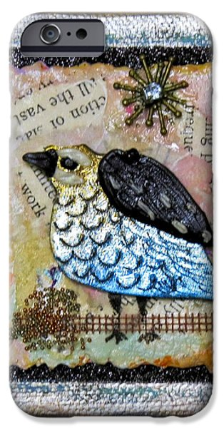 Netting Mixed Media iPhone Cases - Pegys Quail iPhone Case by Cecie McCaffery