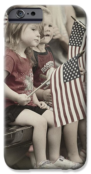 American Flag iPhone Cases - Pekin Parade - D009611-a iPhone Case by Daniel Dempster