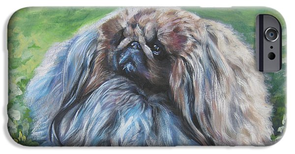 Pekingese iPhone Cases - Pekingese iPhone Case by Lee Ann Shepard