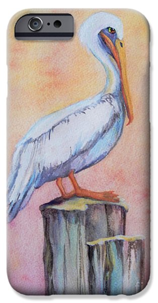 """indoor"" Still Life Paintings iPhone Cases - Pelican Post iPhone Case by Sharon Nelson-Bianco"