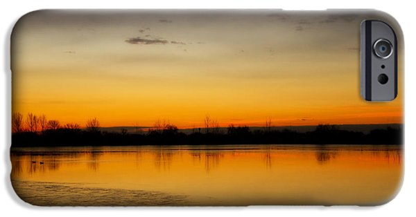 Unset iPhone Cases - Pella Ponds  December 16th Sunrise Poster Photography Print iPhone Case by James BO  Insogna