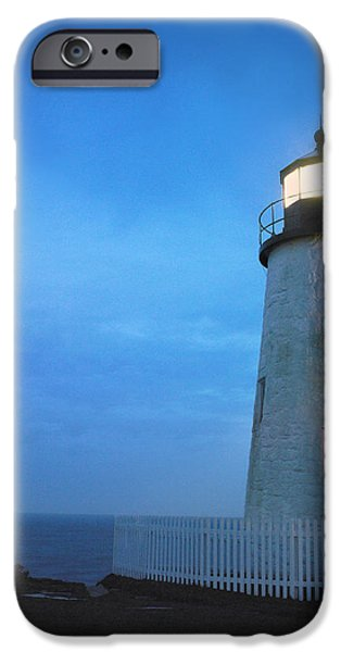 Pemaquid Lighthouse iPhone Cases - Pemaquid Lighthouse, Bristol, Me iPhone Case by Gillham Studios