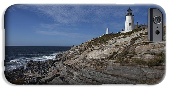 Marine iPhone Cases - Pemaquid Lightouse iPhone Case by Timothy Johnson