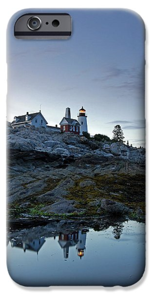 New England Lighthouse iPhone Cases - Pemaquid Point Lighthouse iPhone Case by Juergen Roth