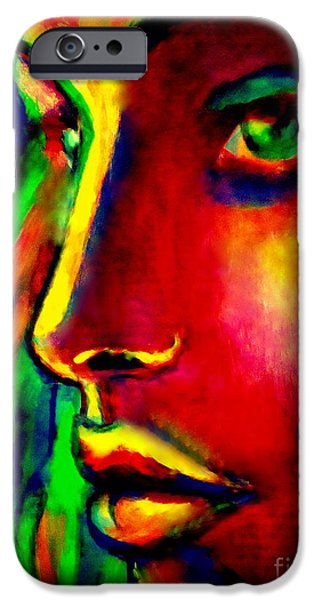 Abstract Expressionism iPhone Cases - Penetrative and remote iPhone Case by Helena Wierzbicki