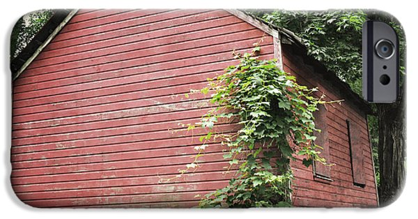 Vineyard Prints iPhone Cases - Pennsylvania Red Barn Vineyard House iPhone Case by Andrea Hazel Ihlefeld