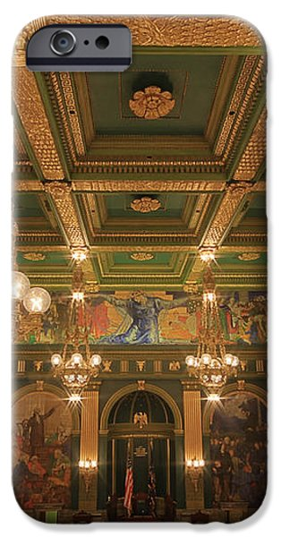 Pennsylvania Senate Chamber iPhone Case by Shelley Neff