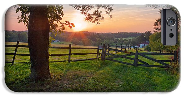 Dave iPhone Cases - Pennsylvanian Summer Sunset iPhone Case by David Lamb