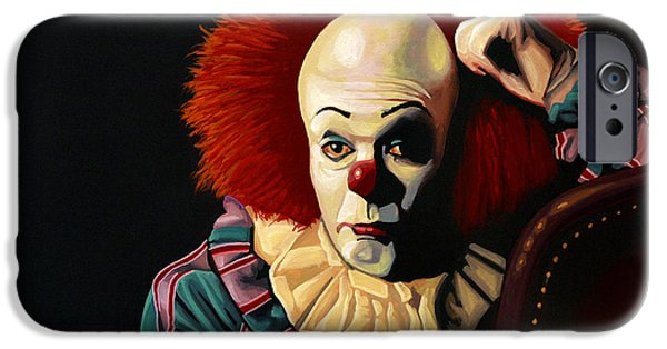 Shine iPhone Cases - Pennywise iPhone Case by Paul Meijering