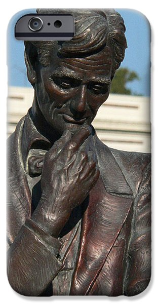 Recently Sold -  - President iPhone Cases - Pensive Lincoln iPhone Case by David Bearden