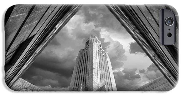 Nebraska iPhone Cases - Pentagonal Obelisk iPhone Case by Joel Jones