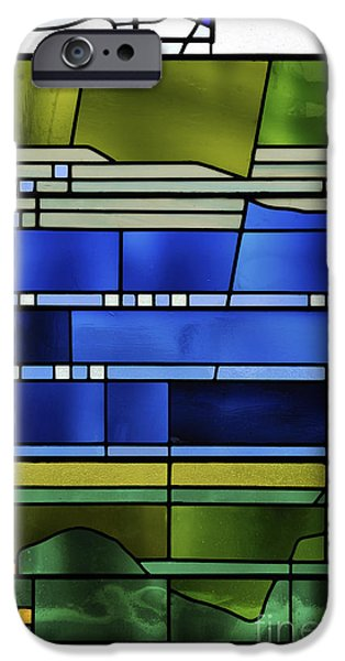 Pentecost Window iPhone Cases - Pentecost I. iPhone Case by Stan Pritchard