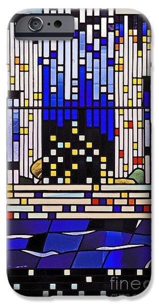 Pentecost Window iPhone Cases - Pentecost III. iPhone Case by Stan Pritchard