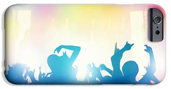 Applaud iPhone Cases - People having fun in night club iPhone Case by Michal Bednarek