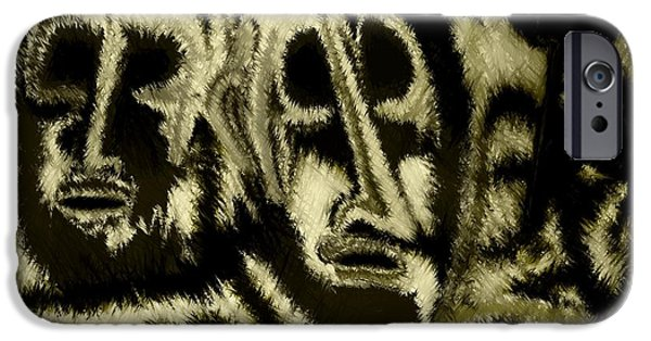 Recently Sold -  - Abstract Digital Drawings iPhone Cases - People iPhone Case by Rafi Talby