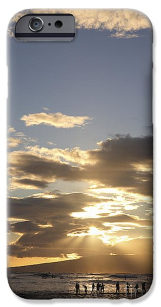 People Silhouette Sunset iPhone Case by Brandon Tabiolo - Printscapes