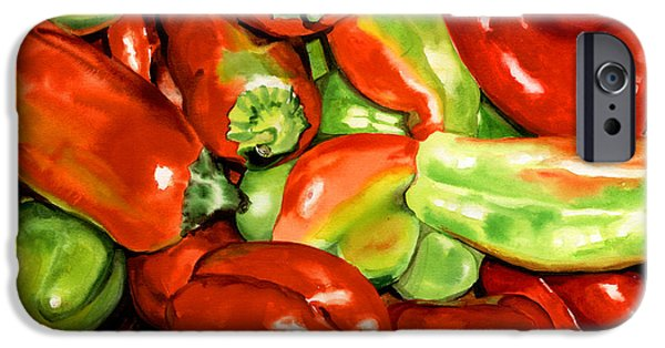 Nadi Spencer iPhone Cases - Peppers iPhone Case by Nadi Spencer