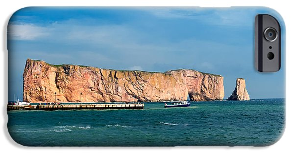 Village iPhone Cases - Perce Rock iPhone Case by Ulrich Schade