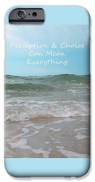 Discernment iPhone Cases - Perception iPhone Case by Sabrina Wheeler