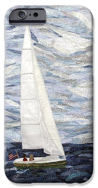 Sailboats Tapestries - Textiles iPhone Cases - Perfect Day iPhone Case by Loretta Alvarado