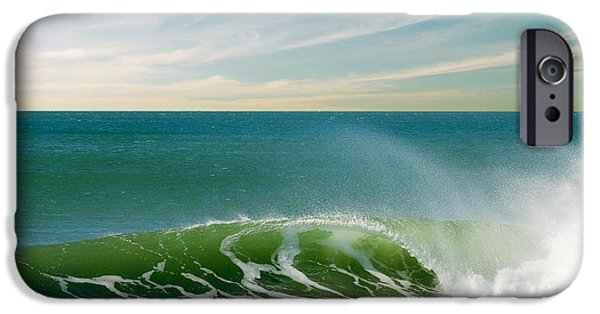Atlantic iPhone Cases - Perfect Wave iPhone Case by Carlos Caetano