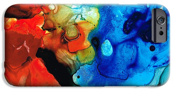 Contemporary Abstract iPhone Cases - Perfect Whole and Complete iPhone Case by Sharon Cummings