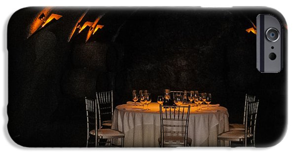 Table Wine iPhone Cases - Perfectly Prepped for Dinner iPhone Case by Mark Beecher