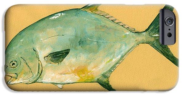 Permit iPhone Cases - Permit fish iPhone Case by Juan  Bosco