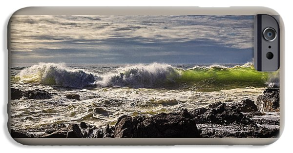 Fury iPhone Cases - Perpetua Waves D9351 iPhone Case by Wes and Dotty Weber
