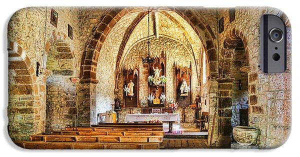 Town iPhone Cases - Perrozo 155A1016 Iglesia de Perrozo iPhone Case by Diana Sainz