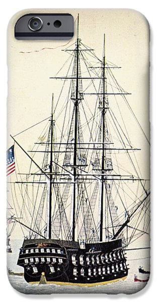 Old Glory Paintings iPhone Cases - Perrys Expedition To Japan iPhone Case by Granger