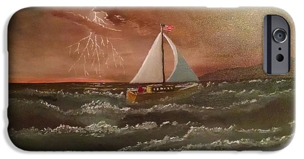 Sailboat Ocean iPhone Cases - Perseverance iPhone Case by Michael  Lee